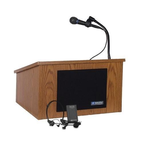 Wired Sound Tabletop Lectern, Oak