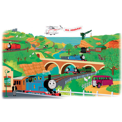 RoomMates Thomas & Friends Peel and Stick Giant Wall Decals