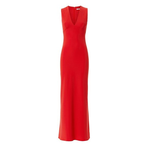 T BY ALEXANDER WANG Crepe V-Neck Maxi Dress