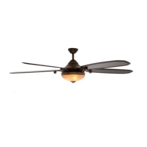 Home Decorators Collection Amaretto 70 in. LED Indoor French Beige Ceiling Fan with Light Kit and Remote Control