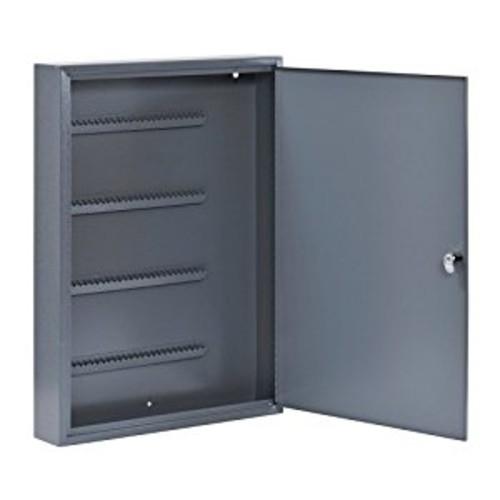 Buddy Products Locking 100-Key Steel Cabinet, 3 x 22 x 16 Inches, Grey (1100-1)