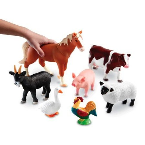 Jumbo Farm Animals By Learning Resources
