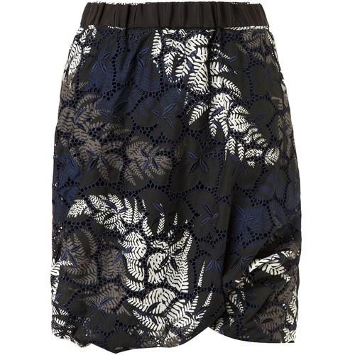 SACAI Leaf Print Skirt