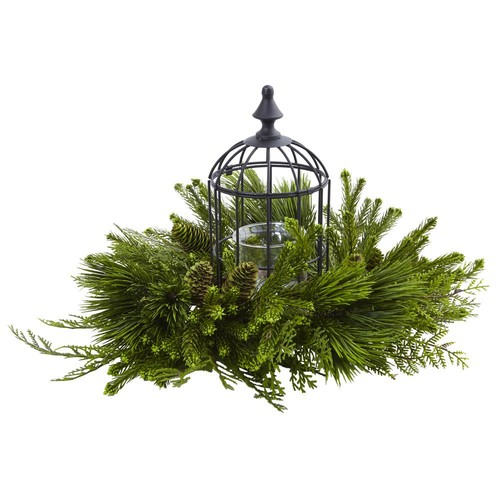 Nearly Natural Mixed Pine Birdhouse Candelabrum