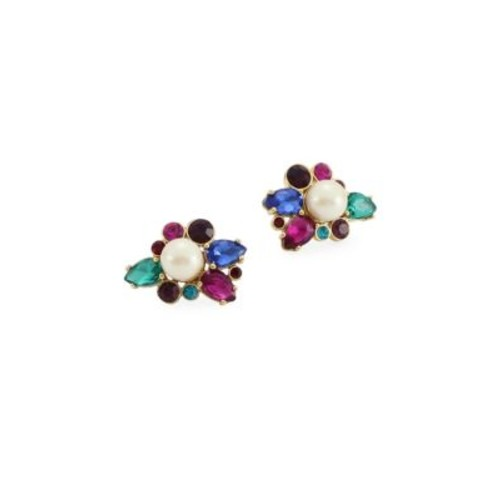 Flying Colors Simulated Faux Pearl Cluster Stud Earrings