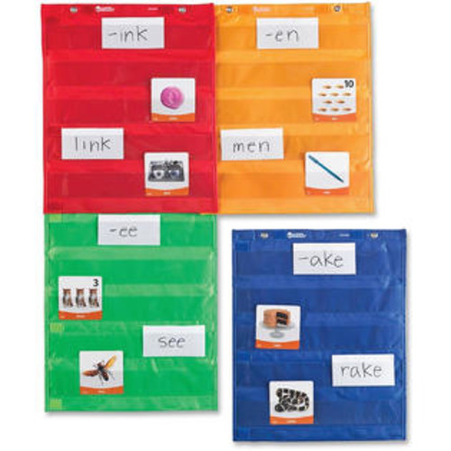 Learning Resources Magnetic Pocket Chart Squares, Set of 4 - 4/EA