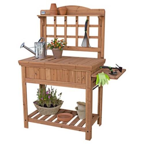 Backyard Discovery Potting Bench with Removable Top, Folding Shelf
