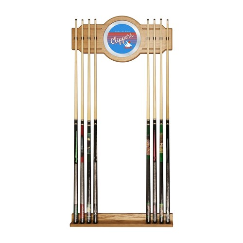 San Diego Clippers Hardwood Classics Billiard Cue Rack with Mirror