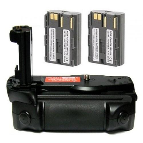 Opteka BG-40D Battery Pack Grip / Vertical Shutter Release for Canon EOS 5D, 20D, 30D, & 40D Digital SLR Camera with 2 B