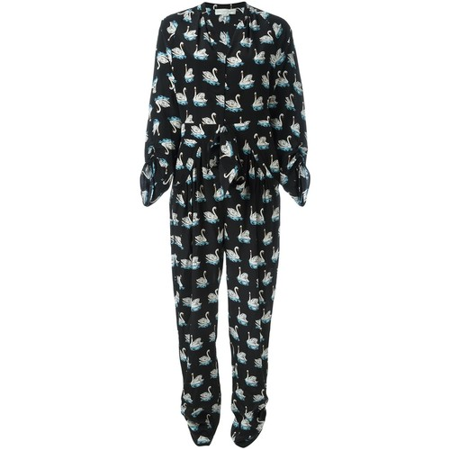 STELLA MCCARTNEY 'Monia' Swan Print Jumpsuit