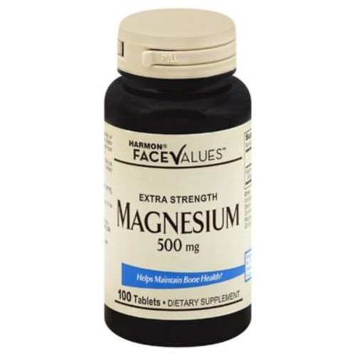 Harmon Face Values 100-Count Extra Strength 500 mg Magnesium Tablets