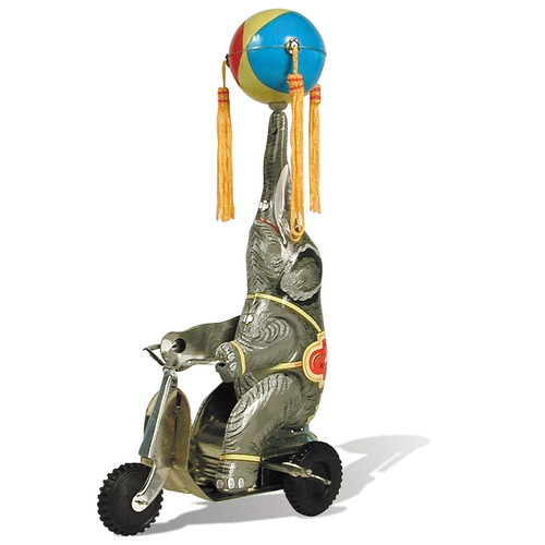 Schylling Tin Elephant On Bike Collectible Figure