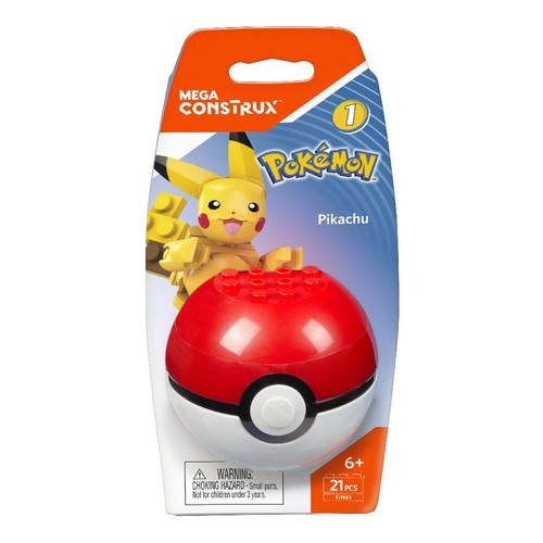 Mega Construx Pokemon Construction Set - Pikachu