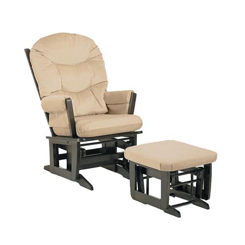 Dutailier Beige Microfiber Glider Chair/ Ottoman Set