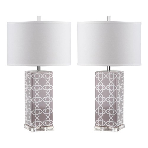 Safavieh Quatrefoil 2-piece Table Lamp Set