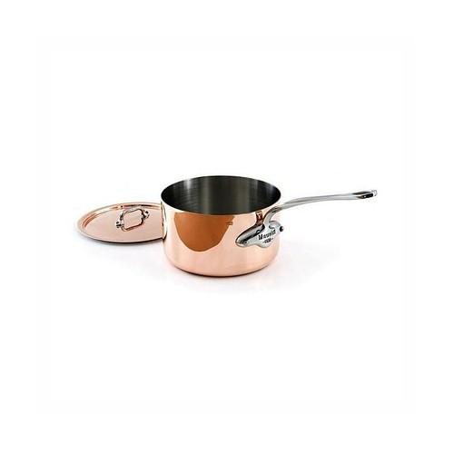 Mauviel 1830 M'heritage 1.5mm - 1.9 Qt Copper & Stainless Steel Saucepan w/Lid