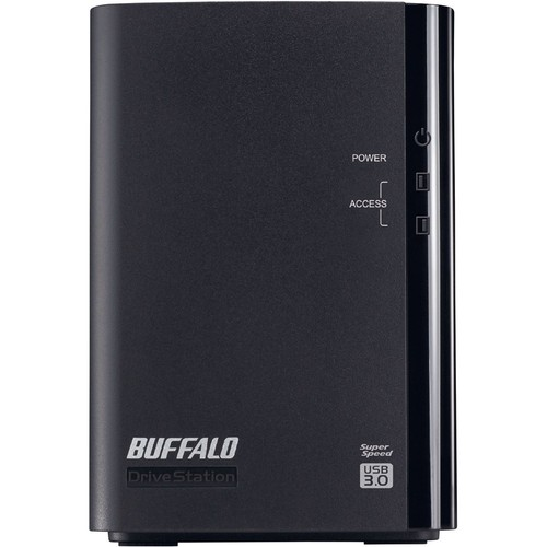 Buffalo - DriveStation Pro 4TB 2-Bay External USB 3.0 Storage - black