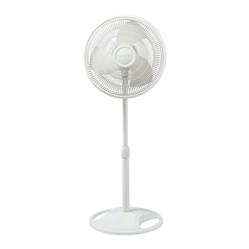 Lasko 16 Oscillating Stand Fan, White