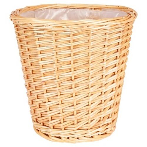 Household Essentials - Willow Waste Basket - Natural