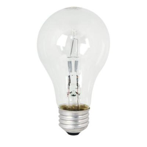 Feit Electric Energy Saving 60W Equivalent halogen A19 Clear Light Bulb (48-Pack)
