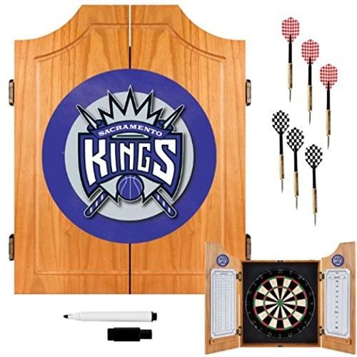 Sacramento Kings NBA Wood Dart Cabinet Set - Game Room Products Dart Cabinets NBA