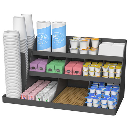 Mind Reader - Vanguard Coffee Condiment Organizer - Black