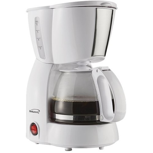 Brentwood - 4-Cup Coffeemaker - White