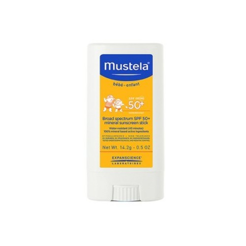 Mustela Broad Spectrum SPF 50-Plus Mineral Sunscreen Stick, 0.5 oz.