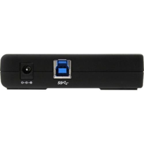 4 Port USB 3.0 Hub - 4 x SuperSpeed USB 3.0 - Black - Compact - USB 3 Hub - USB Splitter - Powered USB 3.0 Hub - USB Extender