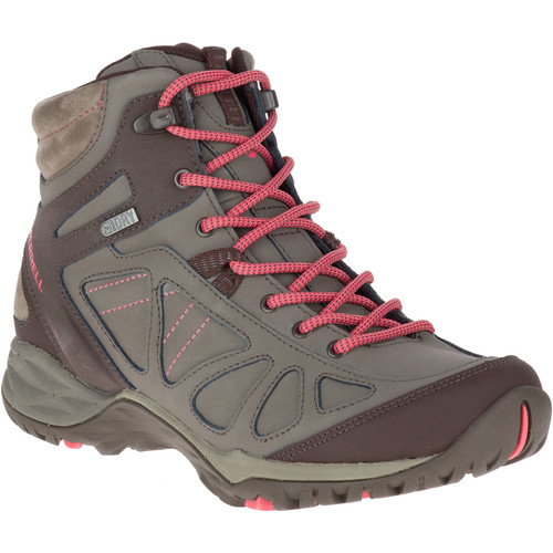 MERRELL Women's Siren Q2 Mid Waterproof Hiking Boots, Boulder