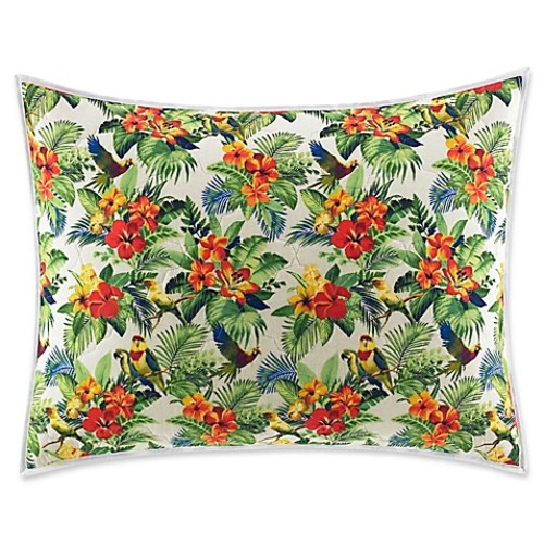 Tommy Bahama Parrot Cove Standard Pillow Sham in Red/Green
