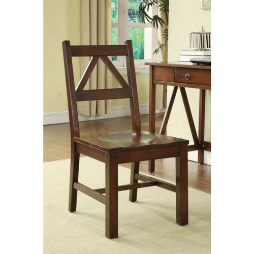 Linon Titian Wood Chair; Antique Tobacco
