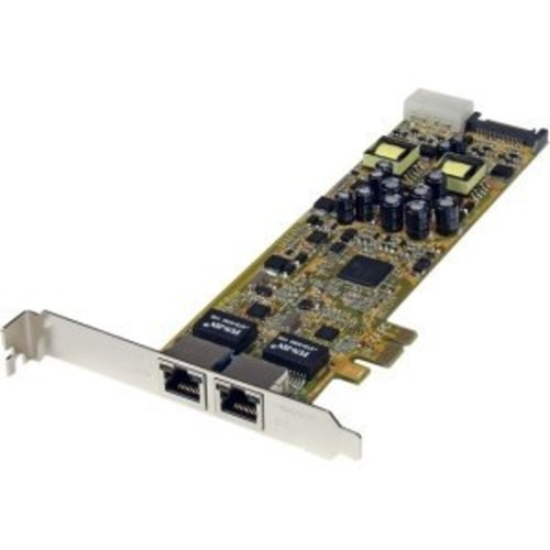 StarTech.com Dual Port PCI Express Gigabit Ethernet PCIe Network Card Adapter - PoE/PSE -