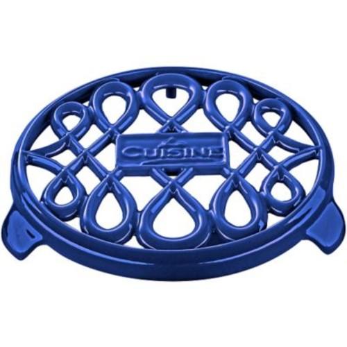 La Cuisine Round Cast Iron Trivet; Sapphire