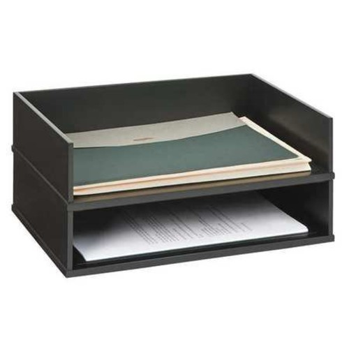 Victor Midnight Black Collection Stacking Letter Tray
