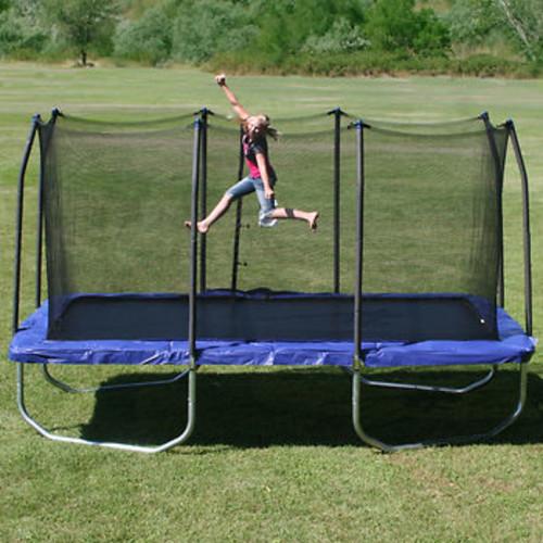Skywalker Trampolines 15' x 9' Rectangular Trampoline with Safety Enclosure