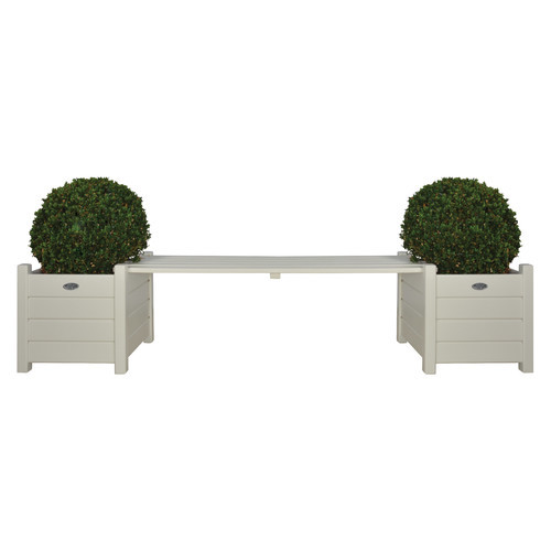 Square Wood Planter Bench