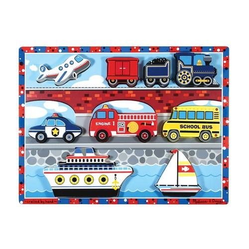 Vehicles Chunky Puzzle by Melissa & Doug   multi   Gilt