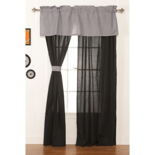 One Grace Place Teyo's Tires Solid Sheer Rod pocket Curtain Panel (Set of 2)