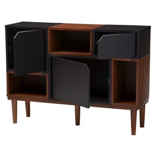 Anderson Mid-century Retro Modern Wood Sideboard Storage Cabinet - Oak/Espresso - Baxton Studio