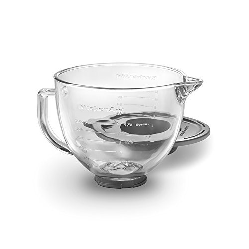 KitchenAid K5GB 5-Qt. Tilt-Head Glass Bowl with Measurement Markings & Lid [Clear]