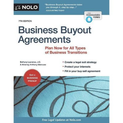 Business Buyout Agreements: Plan Now for Retirement, Death, Divorce or Owner Disagreements (Paperback)