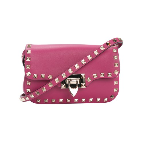 VALENTINO Pink Rockstud Cross Body Bag