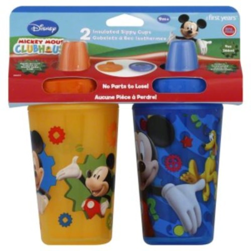The First Years Disney Mickey Mouse Magical Color changing insulated sippy cup 2 pack