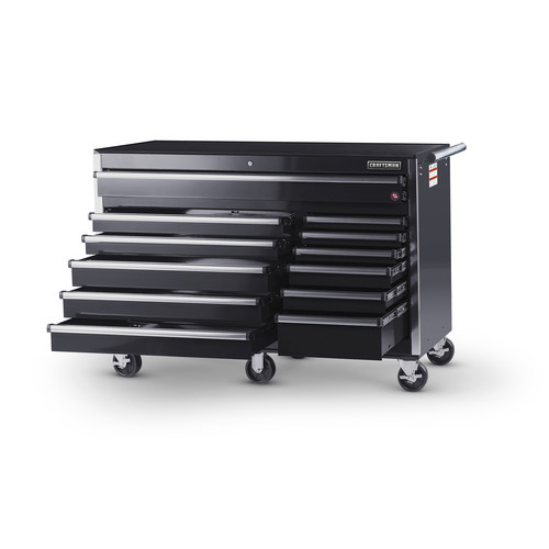 Craftsman 56 in. 12-Drawer Ball Bearing Slides Cabinet, Black