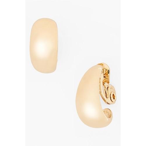 Tapered Hoop Clip Earrings
