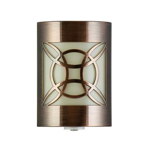 GE LED CoverLite, 11332, Oil-Rubbed Bronze Finish, Plug-In, Auto Night Light, Light Sensing, Dusk to Dawn Sensor, Energy-Efficient