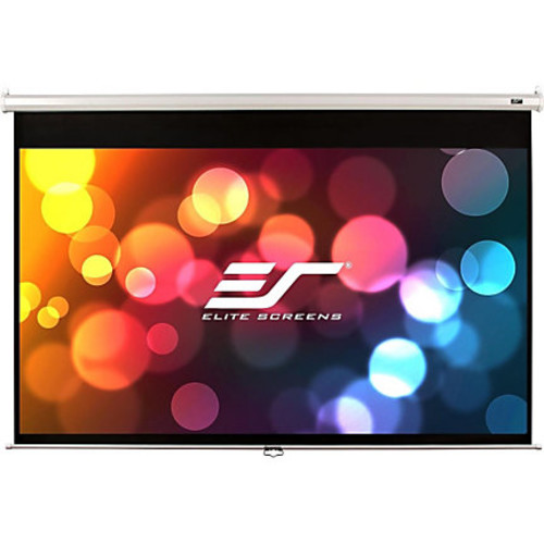 Elite Screens M84XWH-E30 Manual Ceiling/Wall Mount Manual Pull Down Projection Screen (84