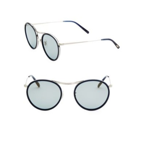 MP-3 30th 51MM Round Sunglasses