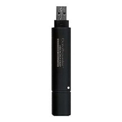 Kingston DataTraveler 4000 G2 Management Ready - USB flash drive - encrypted - 64 GB - USB 3.0 - FIPS 140-2 Level 3